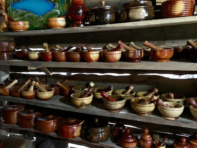 Wood Carving Shop in Wood Carvers Compound in Mexico