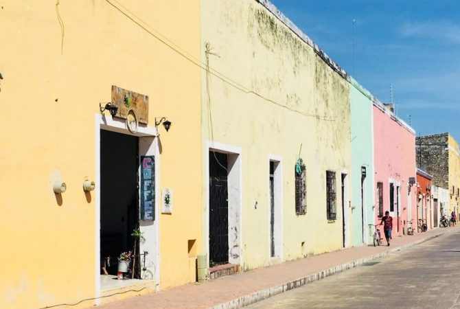 Colourful Streets in Valladolid, Mexico