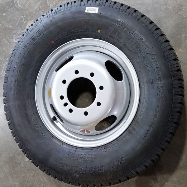 8 BOLT WHEEL & TIRE COMBO GREY DUALLY 10PLY