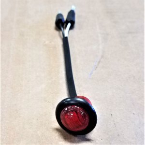 "C030135 3/4"" RED ROUND MARKER LIGHT"
