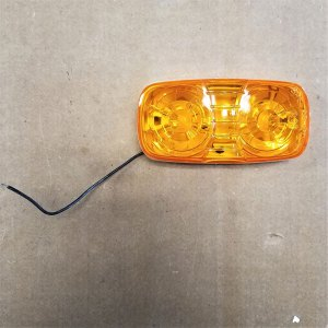 539BA AMBER DOUBLE BULLSEYE CLEARANCE LIGHT
