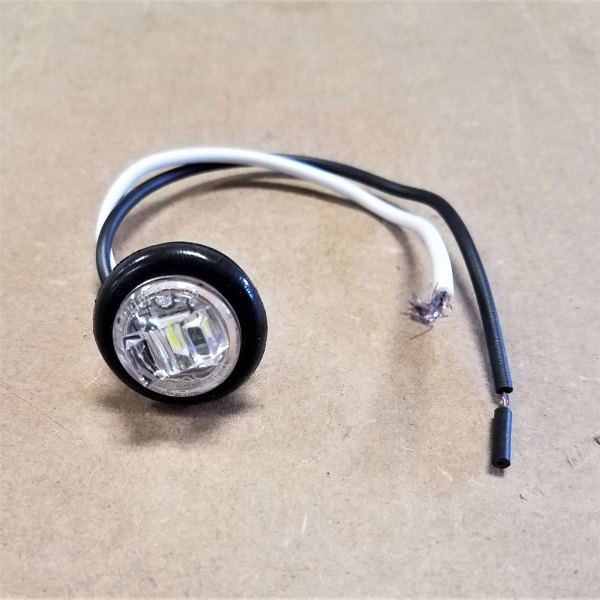 """C030137 3/4"""" CLEAR LENS W/ CLEAR LED W/ GROMMET"""