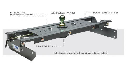 GNRK1384 B & W GOOSENECK TRAILER HITCH
