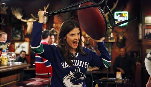 Cobie Smulders as Robin Sherbatzky in How I Met Your Mother