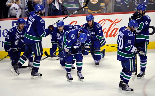 Vancouver Canucks after losing game 7 of the Stanley Cup Finals to the Boston Bruins