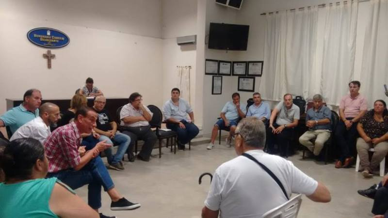 La reunión en el HCD, de la que participó el intendente Arrieta.