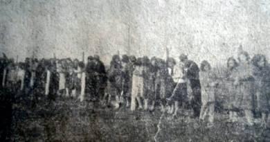 Un domingo en la cancha del club Cañuelas década del 30