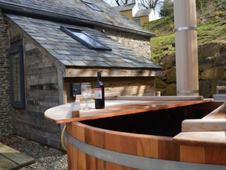 The hot tub by the barn