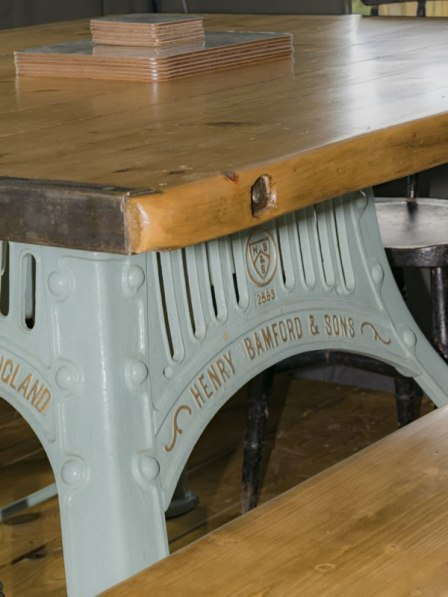 An image of the bespoke, handcrafted table in Afon