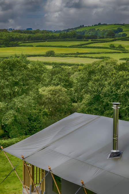 An image of the view across the valley with Afon tent in the foreground