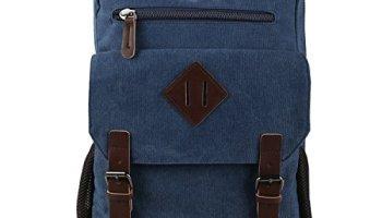 11bbb83338 HOTOUCH Vintage Canvas Backpack Rucksack Laptop Bag Computer Bag Daypack  Travel Bag College Bag Book Bag