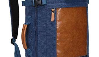 c84d79624 WITZMAN Men Vintage Canvas Rucksack Travel Duffel Backpack Retro Hiking Bag  2063 (22 inch Blue