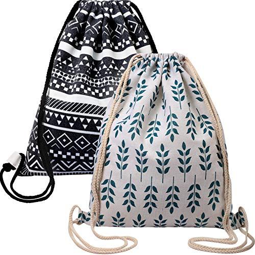 KUUQA 20 Pcs Drawstring Backpack Sport Bags String Bag Sack Cinch Tote Gym Backpack Bulk for School Gym Sport or Traveling,Colorful