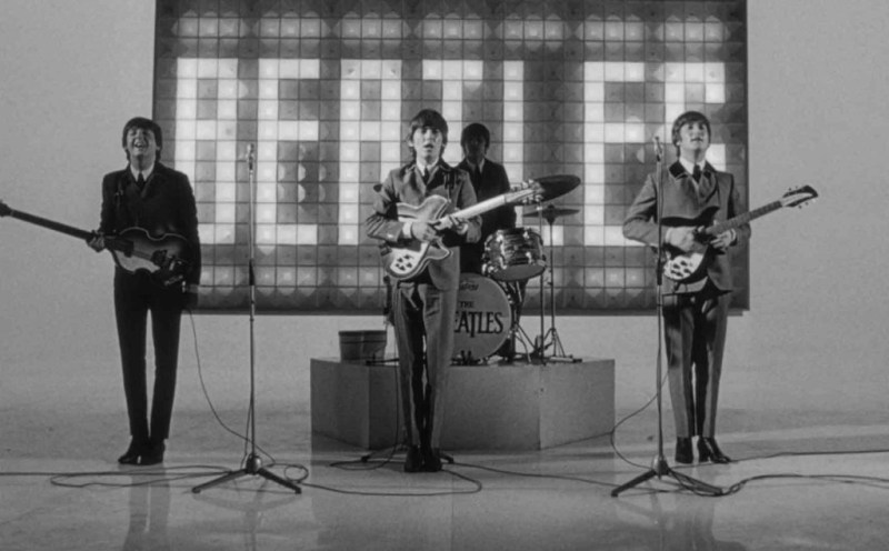 The Beatles perform in A Hard Day's Night