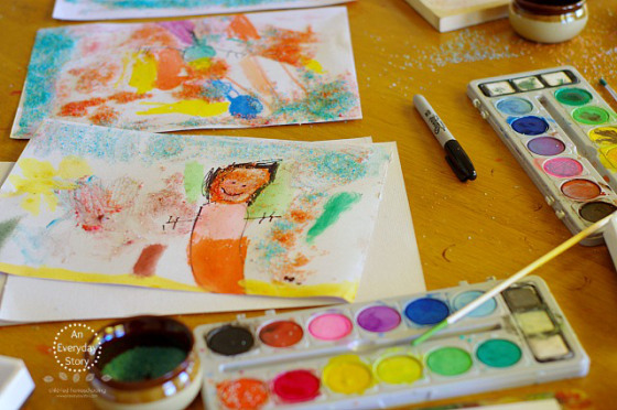 Art Activities with Watercolours - An Everyday Story