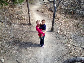 evan & mommy on hike