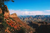 Colorful rocks and the distant North Rim