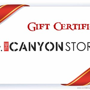 Gift certificate The Canyon Store