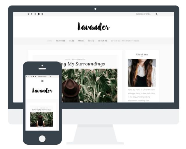 Lavender wordpress theme