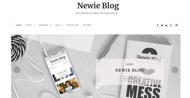 Newie wordpress theme