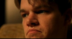 matt damon sad face