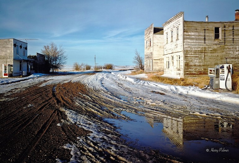 Main Street, Lovena Saskatchewan, Photograph by Harry Palmer 1988