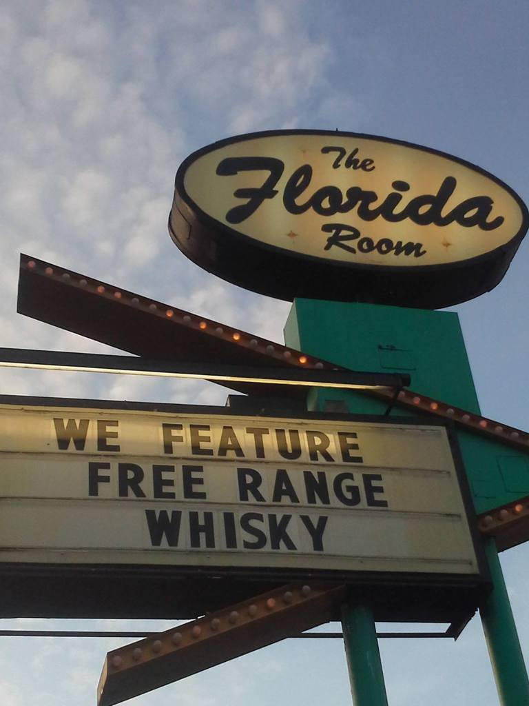 Free Range Whiskey at The Florida Room.Photograph by Kurt Weber.