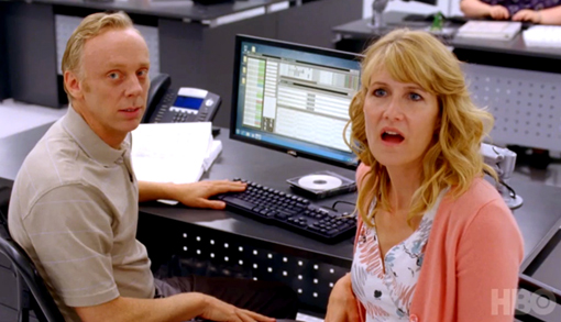 Mike White and Laura Dern. Writers, Creators, Stars.