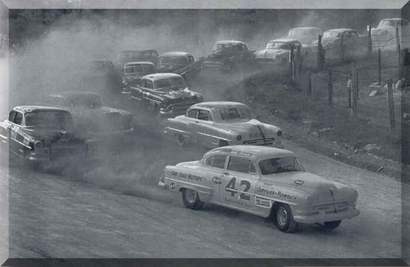 Stock Cars Dirt Track Lee Petty