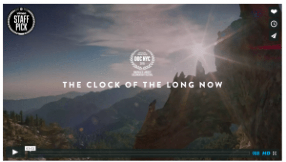clock of thee long now Vimeo Billboard screenshot