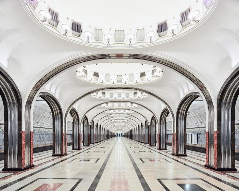 David Brdeny Maykovskaya Metro Train Station Russia 2015