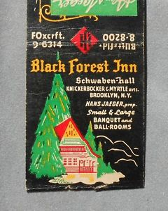 black forest matchbook