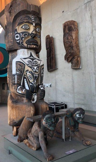 Modern Totem poles and Haida House Replica. M O A. UBC