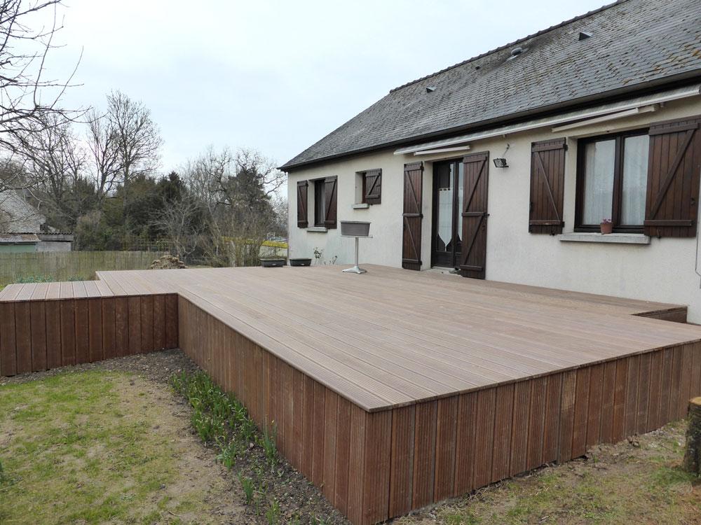 Création terrasse bois exotique 37