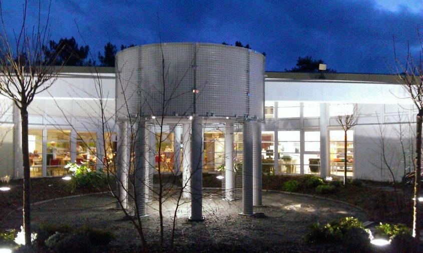 Installation de luminaire de jardin 37