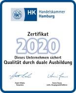 Zertifikat der IHK Hamburg - Qualität durch duale Ausbildung für die CAPCAD SYSTEMS AG
