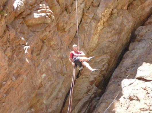 Abseiling in Badkloof