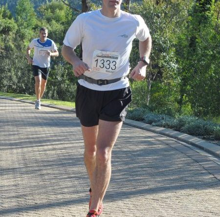 The author, David Fox, participating in the Knysna Forest Marathon 2011