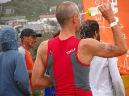 David Fox in T2, Stilbaai Triathlon 2012