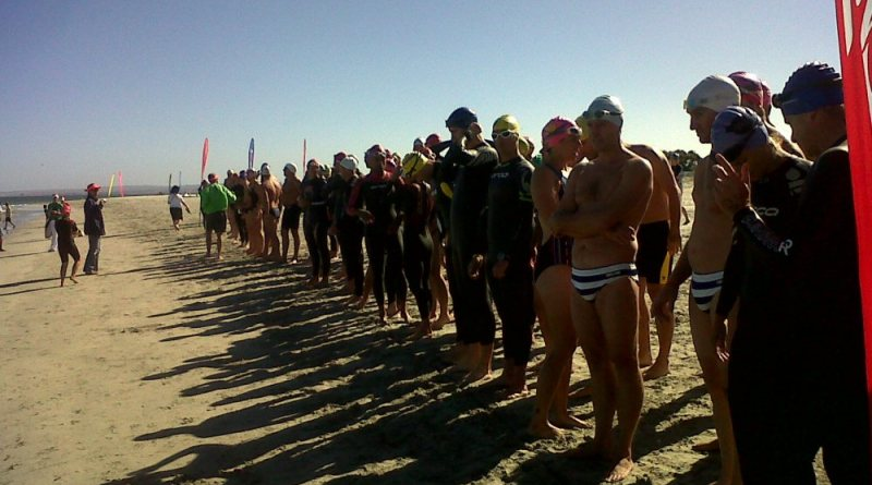 Lining up for the start of the Around the Island 2012 in Langebaan