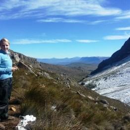 Reaching the snow-line, Matroosberg Peak ascent.