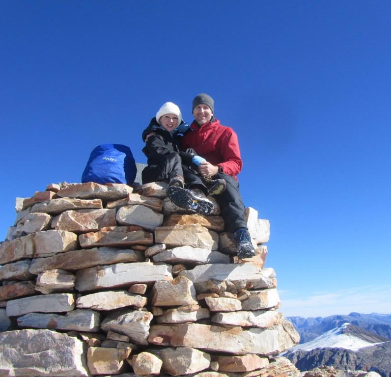 Summiting Matroosberg Peak in winter.