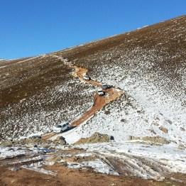 4x4s descending Matroosberg Peak