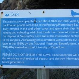 Midden info board, Robberg Peninsula