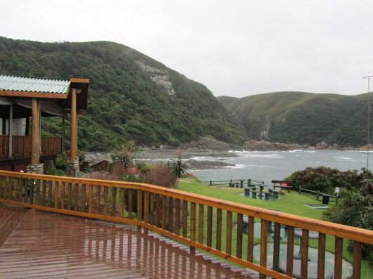 Tsitsikamma Restaurant deck looking toward Storm's River Mouth