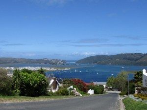 View across the Knysna Lagoon