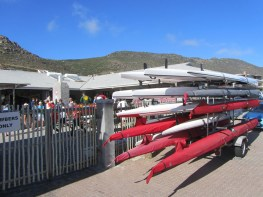 Activity at the Fish Hoek Lifesaving Club for the 2012 Peter Creese Lighthouse Race