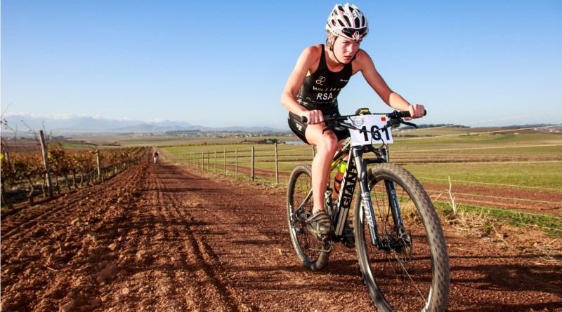 Robyn Williams claimed victory in the women's category of the Durbanville Triathlon in 01:46:20 Photo Credit ~ Chris Hitchcock