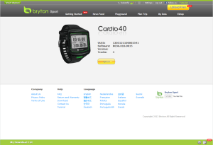 Bryton Cardio 40 Watch is connected