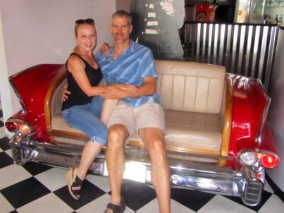 Cadillac seat at Marilyn's 60's Diner